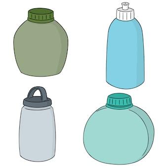 Vektor-set von wasserflasche