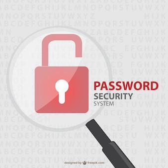 Vektor-sicherheitsschloss freier illustration