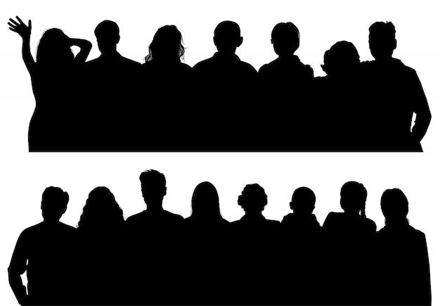 Vektor silhouetten mann und frau