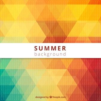 Vektor-sommer-abstrakten stil