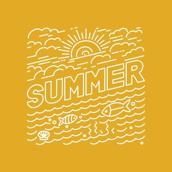 Vektor sommer schriftzug