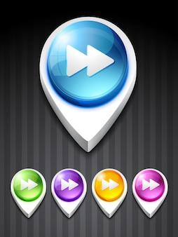 Vektor spielen thema 3d-stil-symbol