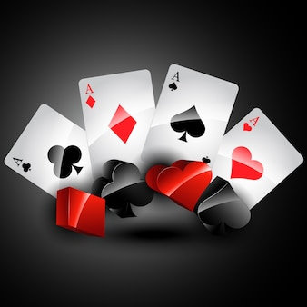 Vektor spielkarte stilvolle design