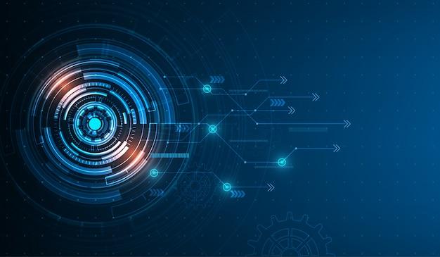 Vektor tech kreis und technologie-hintergrund.
