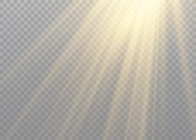 Vektor transparentes sonnenlicht spezielle linse blitzlichteffekt.