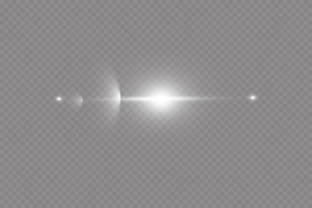 Vektor transparentes sonnenlicht spezielle linse flare lichteffekt. sonnenstoß.