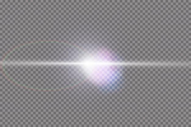 Vektor transparentes sonnenlicht spezielle linse flare lichteffekt.