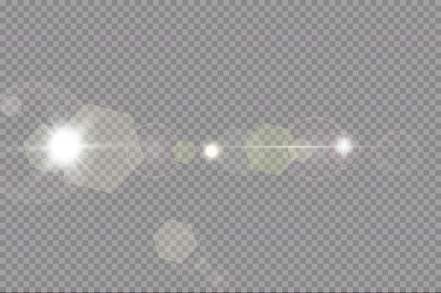 Vektor transparentes sonnenlicht spezielle linseneffekt lichteffekt.