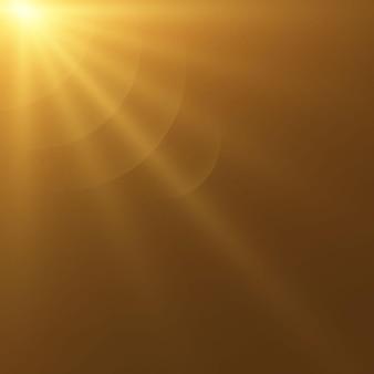 Vektor-transparentes sonnenlicht spezielles objektiv-blitzlicht-effekt. front-sonne-objektivblitz. vektorunschärfe im licht der ausstrahlung. dekorelement. horizontale sternstrahlen und suchscheinwerfer.