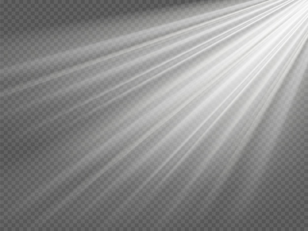 Vektor-transparentes sonnenlicht spezielles objektiv-blitzlicht-effekt. front-sonne-objektivblitz.