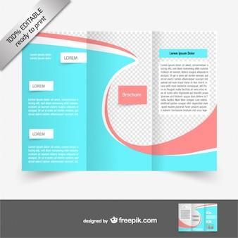 Vektor-tri-fach broschüre kostenlos herunterladen