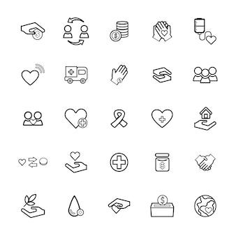 Vektor-ui-illustrations-gesundheits-spenden-nächstenliebe-konzept