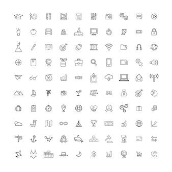 Vektor-ui-illustrations-mischreise-bildungs-geschäft