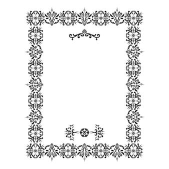 Vektor umrandet dekorative florale elemente für das design seitendekoration digitale grafiken