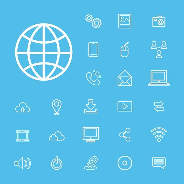 Vektor-verbindungs-digital-technologie ui-konzept