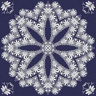 Vektor vintage elegante spitze ornament schneeflocke