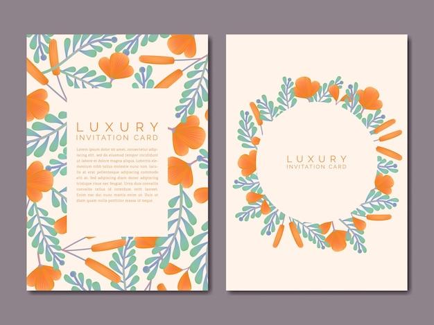Vektor vintage frühling oder sommer blumen zeichnung muster luxus einladungskarte oder poster pink