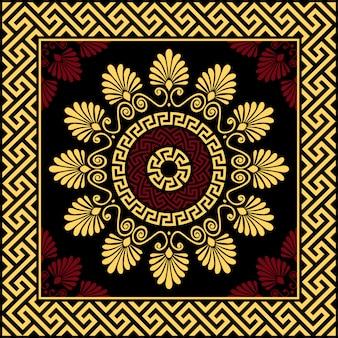 Vektor vintage gold griechische ornament mäander