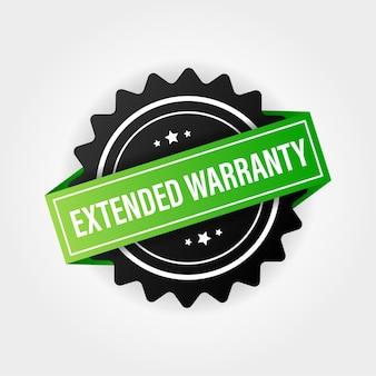 Vektor vintage grün erweiterte garantie etikettenvorlage