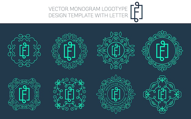 Vektor-vintage-monogramm-logo.