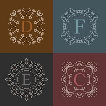 Vektor-vintage-monogramm-logo