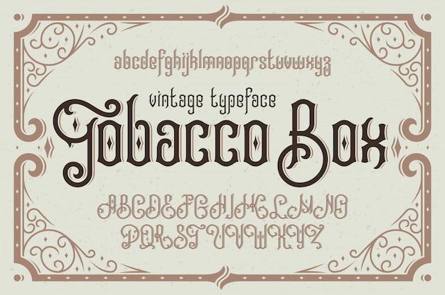 Vektor vintage schrift mit dekorativem rahmen