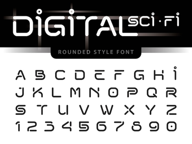 Vektor von futuristischen alphabetbuchstaben