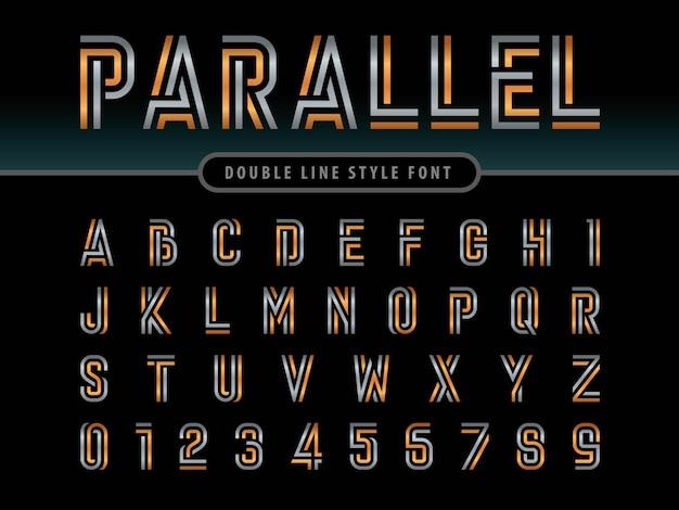 Vektor von modernen alphabetbuchstaben und -zahlen
