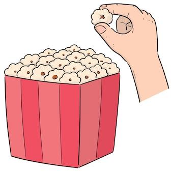 Vektor von popcorn