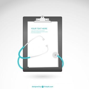 Vektor-vorlage mit stethoskop