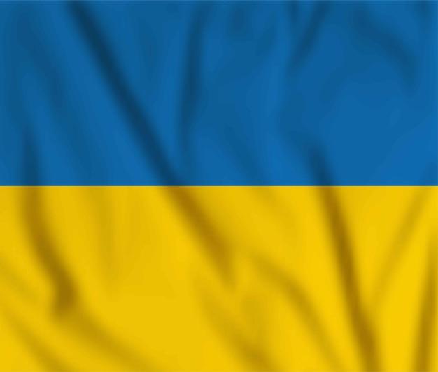 Vektor wehende flagge der ukraine. gelbes und blaues nationales ukrainisches symbol. frohe unabhängigkeit, tag der verfassung constitution