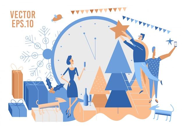Vektor weihnachten vorbereiten illustration.