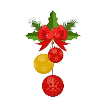 Vektor weihnachtsdekoration feier