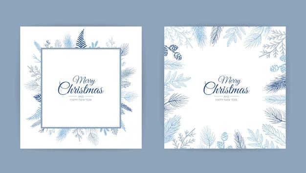 Vektor-weihnachtskarten-satz.