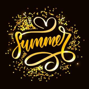 Vektor-wort-verkauf. briefe aus blüten und blättern summer sale holiday
