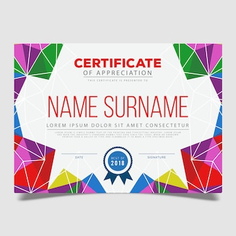Vektor-zertifikat-template-design