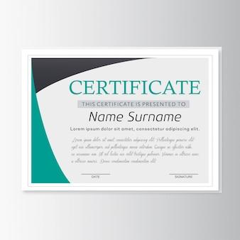 Vektor-zertifikat-vorlage