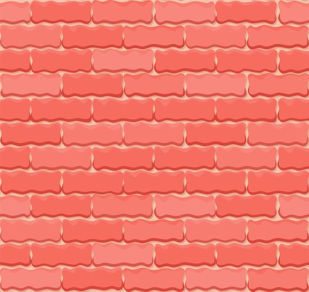 Vektor ziegelmauer nahtlosen hintergrund. realistische farbziegelstruktur.