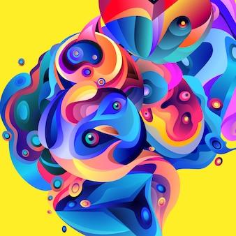 Vektorabbildung bunter abstrakter flüssiger hintergrund
