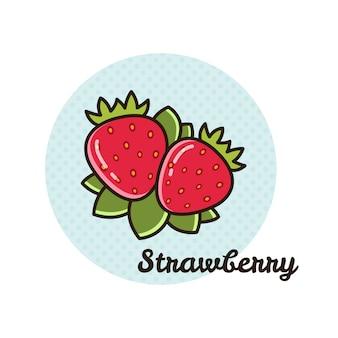 Vektorabbildung der erdbeere.