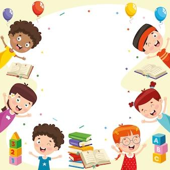 Vektorabbildung der glücklichen kinder