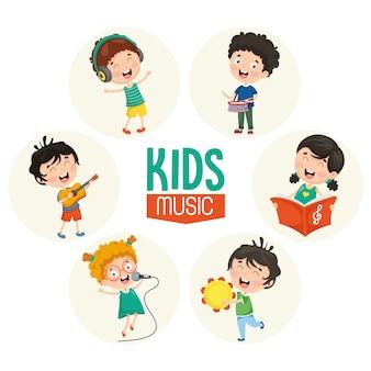 Vektorabbildung der kindermusik
