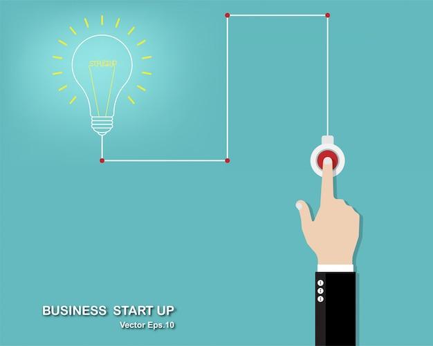 Vektorabbildung der kreativen idee