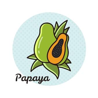 Vektorabbildung der papaya.