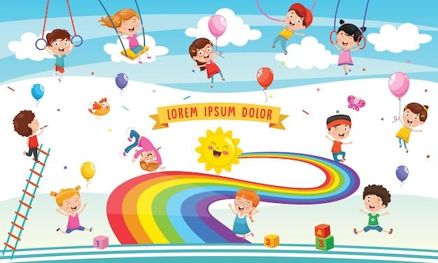 Vektorabbildung der regenbogenkinder
