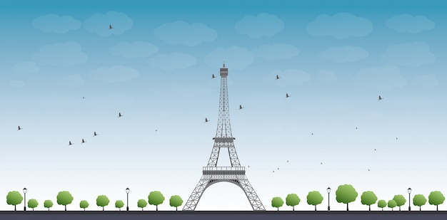 Vektorabbildung des eiffelturms