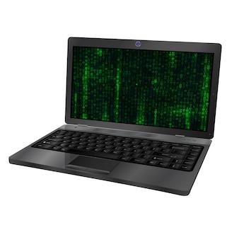 Vektorabbildung des laptops 3d