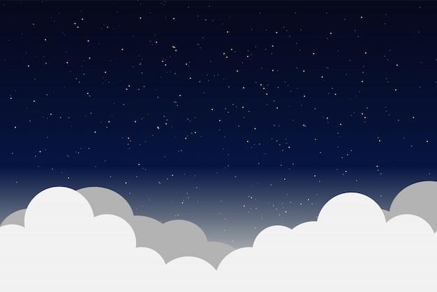 Vektorabbildung des nächtlichen himmels