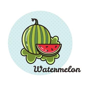 Vektorabbildung einer wassermelone.