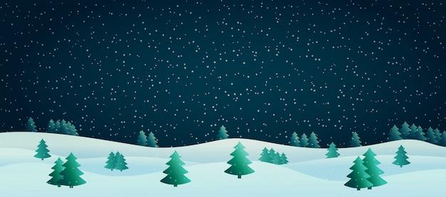 Vektorabbildung einer winterlandschaft